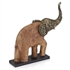 Modern Day Accents Trompa Bronze/Wood Elephant