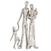 Modern Day Accents Familia Posando Silver Posing Family