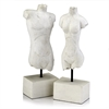 Modern Day Accents Griego White Man & Woman Busts - Set of 2