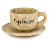 Modern Day Accents Taza Wood Cappuccino Cup & Saucer