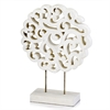 Modern Day Accents Mantelito White Carved Sculpture