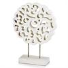 Mantelito White Carved Sculpture
