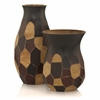 Faceta Four Tone Vases - Set of 2