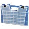 Akro-Mils Portable Organizer, 46 Compartment, Blue