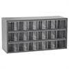 Akro-Mils 17-Series Steel Cabinet 18 Drawers, Gray