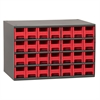 Akro-Mils 19-Series Steel Cabinet w/ 28 Drawers, Red