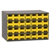 19-Series Steel Cabinet w/ 28 Drawers, Yellow