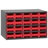 Akro-Mils Steel Cabinet w/ 20 Drawers, Red, Red