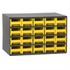 Akro-Mils 19-Series Steel Cabinet w/ 20 Drawers, Yellow