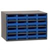 19-Series Steel Cabinet w/ 16 Drawers, Blue