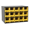 Akro-Mils Steel Cabinet w/ 15 Drawers, Yell, Yellow
