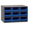 Steel Cabinet w/ 9 Drawers, Blue, Blue