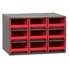 19-Series Steel Cabinet w/ 9 Drawers, Red