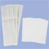Card Stock Holder Adhesive Back, 25 Pk, Clear
