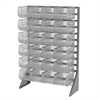 Akro-Mils Rail Rack, 1-Sided w/ 24 30240SCLAR, Clear
