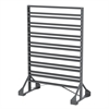 Rail Rack, 2-Sided, 16 Rails, Gray, Gray