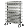 Akro-Mils Rail Rack, 2-Sided w/ 96 AkroBins 30230, Clear