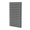 Akro-Mils Louvered Wall Panel, 96 AkroBins 30210, Clear