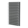 Louvered Wall Panel, 96 AkroBins 30220, Clear