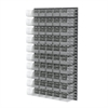 Akro-Mils Louvered Wall Panel, 60 AkroBins 30230, Clear