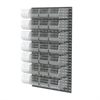 Akro-Mils Louvered Wall Panel, 24 AkroBins 30240, Clear