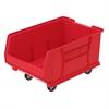 Akro-Mils Mobile Super Size Akro Bin, Red, Red