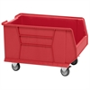 Akro-Mils Mobile Super Size AkroBin, Red, Red