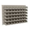 Akro-Mils ReadySpace Wall Rack w/48 AkroBins 30220, White