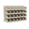 Akro-Mils ReadySpace Wall Rack w/24 AkroBins 30230, White