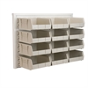 Akro-Mils ReadySpace Wall Rack w/12 AkroBins 30235, White