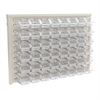 ReadySpace Wall Rack w/48 Bins 305A1, Clear