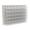 Akro-Mils ReadySpace Wall Rack w/48  Bins 305A3, Clear