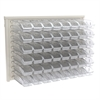 ReadySpace Wall Rack w/48 Bins 305A5, Clear