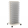 Akro-Mils ReadySpace Flr Unt w/120 InSight Bins, White/Clear
