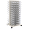 Akro-Mils ReadySpace Flr Unt w/120 InSight Bins, Clear