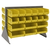 Akro-Mils Low Profile Flr Rack, 2-Sided-36 Bins, Gray/Yellow