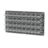 Akro-Mils Louvered Wall Panel w/ 32 AkroBins 30210, Gray/Clear