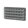 Louvered Wall Panel w/ 32 AkroBins 30220, Gray/Clear