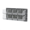Louvered Wall Panel w/ 8 AkroBins 30240, Gray/Clear