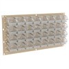 Akro-Mils Louvered Wall Panel, w/ 32 InSight Bins, Beige/Clear