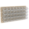 Akro-Mils Louvered Wall Panel w/ 32 InSight Bins, Beige/Clear