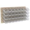 Akro-Mils Louvered Wall Panel w/ 32 InSight Bins, Gray/Clear