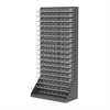 Akro-Mils HD Louvered Flr Rac, w/144 AkroBins, Gray/Clear