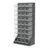 Akro-Mils HD Louvered Flr Rack w/36 AkroBins, Gray/Clear