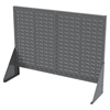 Akro-Mils Low Profile Flr Rack, No Top Shelf, Gray