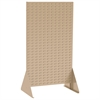 Louvered Rivet Floor Rack, 2-Sided, Beige