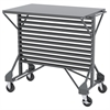 Mobile Bin Cart, 38-1/2 x 24 x 36-1/2, Gray