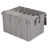 Akro-Mils Attached Lid Container 28 gal, Gray, Gray