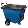 Akro-Cart w/Lid HD 90 Gal,, Blue