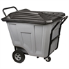 Akro-Cart w/Lid HD 90 Gal, Gray